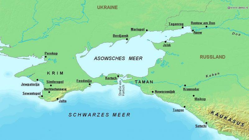 Таманский полуостров на карте.