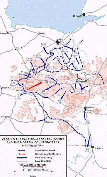 Наступления и контратаки Союзников и немцев 6-17 августа 1944 г.