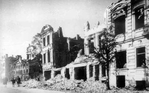 Вильнюс после боев 1944 года.