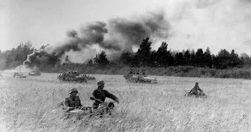 Дивизия «Великая Германия» во время контрудара в Прибалтике.