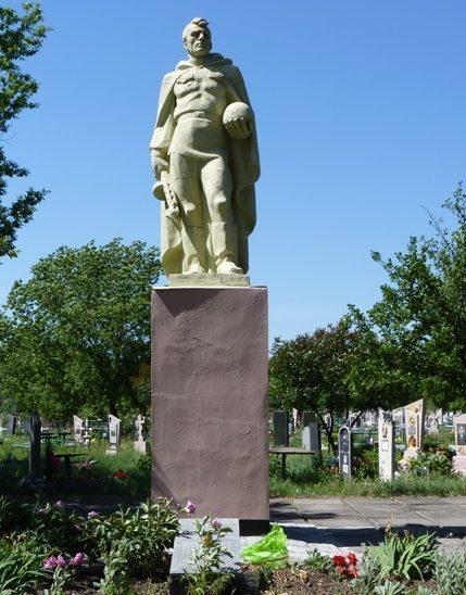с. Богуслав Павлоградского р-на. Братская могила на кладбище советских воинов, погибших в боях за село.