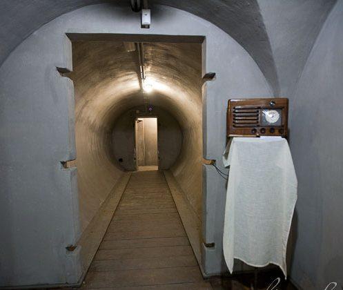 Основные помещения нового бункера Муссолини в Торлонии.