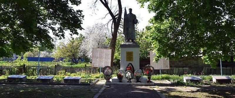 п. Божедаровка Криничанского р-на. Памятник на братской могиле, в которой похоронено 187 советских воинов, погибших в боях за поселок 26-30 октября 1943 г.