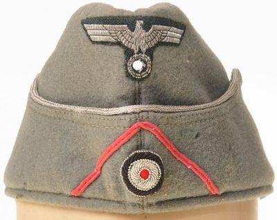 Пилотка офицера самоходной артиллерии Вермахта образца 1938 года. с обшивкой.