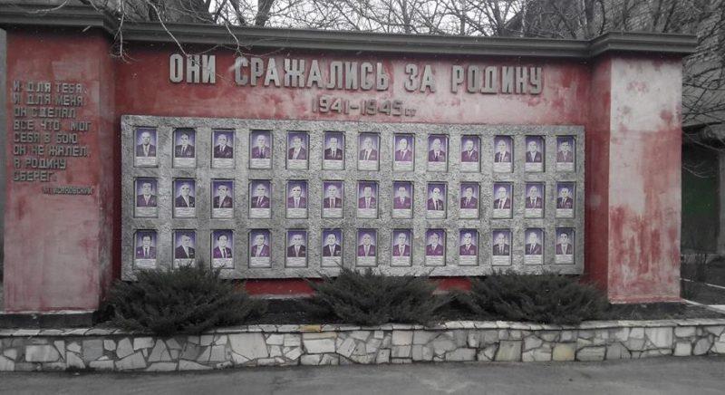 г. Каменское (Днепродзержинск). Памятник, установленный в 1967 году заводчанам коксохимического завода им. Орджоникидзе, погибших в годы войны.