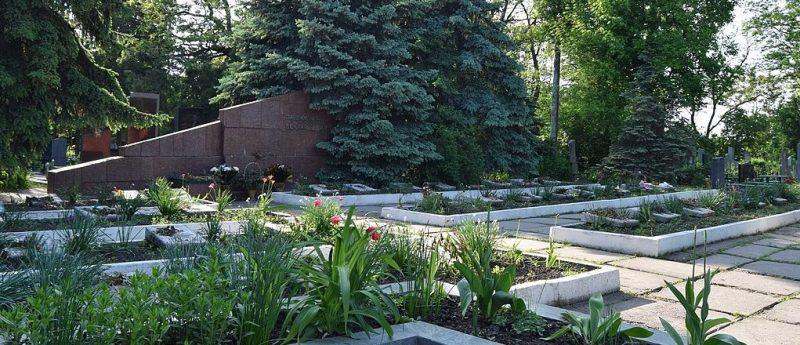 г. Каменское (Днепродзержинск). Братские могилы 49 советских воинов, захороненных на кладбище Соцгорода.