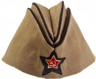 Пилотка командного и начальствующего состава химических войск РККА образца 1935 года.