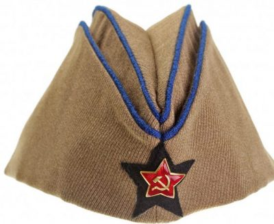 Пилотка командного и начальствующего состава инженерных (технических) войск РККА образца 1935 года.