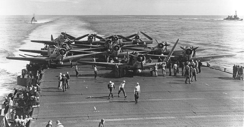 Палуба авианосца «Enterprise». Июнь 1942 г.