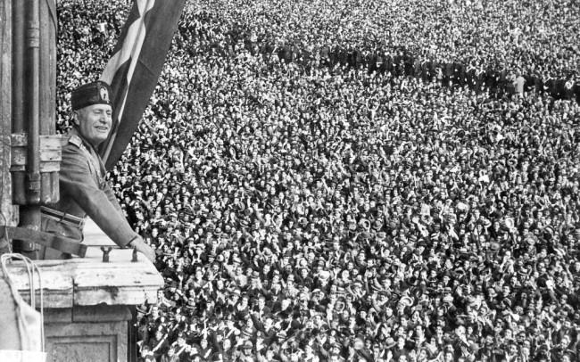 Выступление Муссолини с балкона Палаццо Венеция 10 июня 1940 г.