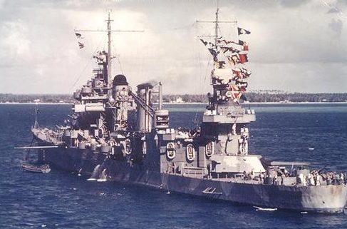 Крейсер «Quincy» в Новой Каледонии. Август 1942 г.