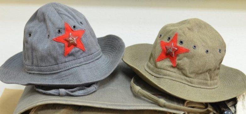 Шлем-панама РККА во время боев на Халхин-Голе.