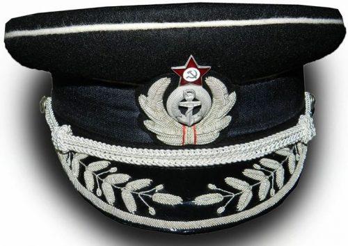 Фуражка высшего начальствующего состава береговой службы ВМФ образца 1941 года.