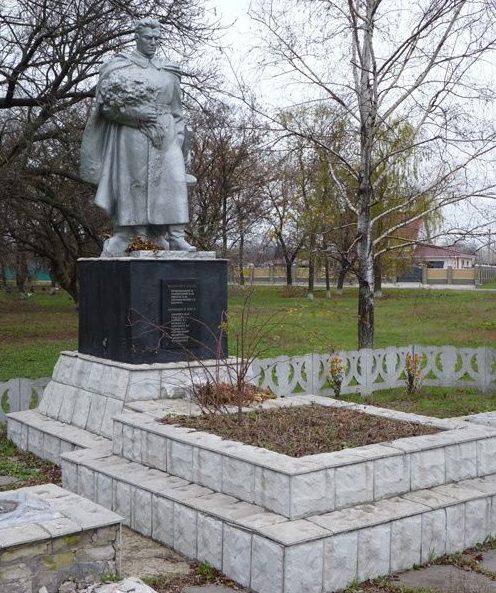 с. Дмитровка Петропавловского р-на. Памятник погибшим односельчанам.