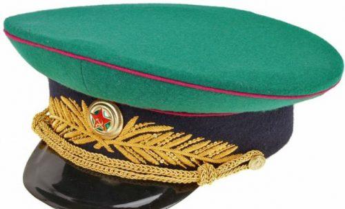 Фуражка парадная для высшего командного состава пограничных войск НКВД образца 1943 года.