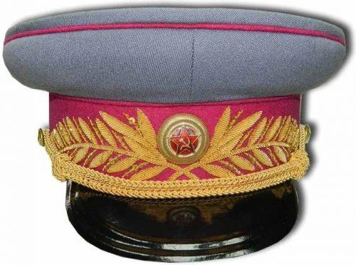 Фуражка к парадному мундиру генерала и маршала пехоты, технических войск и интендантской службы образца 1943 года.