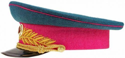 Фуражка парадная генералов и маршалов инженерных войск, войск связи, технических войск, интендантской службы образца 1945 года.