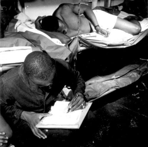 Моряки авианосца «Тикондерога» во время отдыха. Ноябрь 1944 г.
