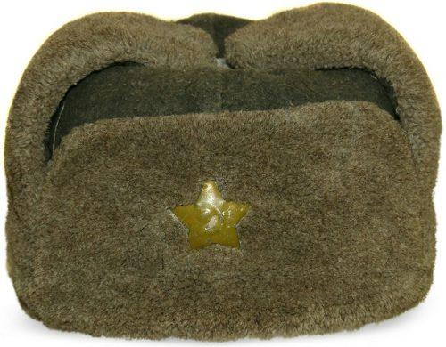 Шапка-ушанка рядового и сержантского состава РККА образца 1940 года.