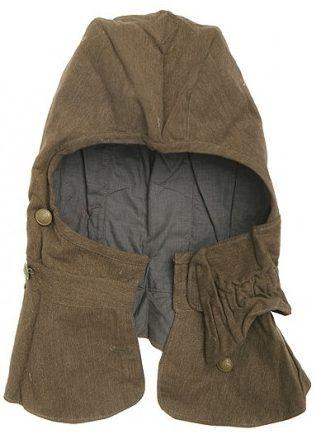 Импрегнированные подшлемники химзащиты РККА образца 1941 года предназначались для защиты головы и шеи от паров и аэрозолей отравляющих веществ. Они надевались поверх лицевой части противогаза.