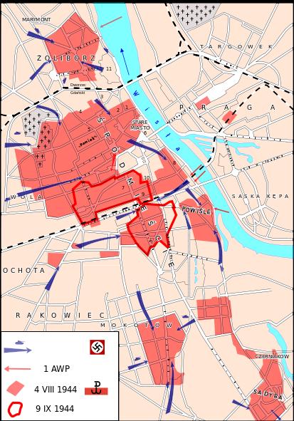 Схема городских кварталов занятых повстанцами.