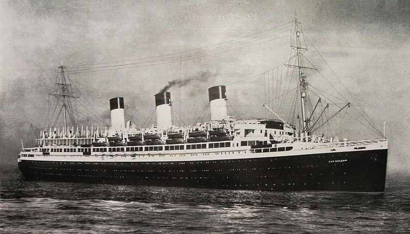 Океанский лайнер«Cap Arcona» в 1927 году.