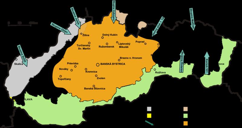 Карта-схема восстания.