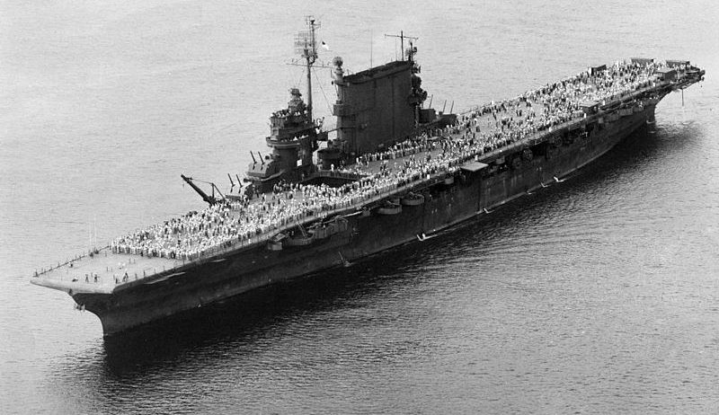 Авианосец США «Saratoga» возвращает 29 204 военнослужащего на родину.