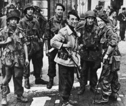 Бойцы Сопротивления в Лионе.