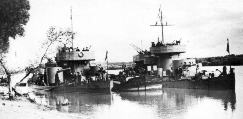 Речные мониторы Дунайской военной флотилии.