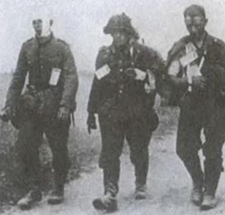 Раненные немцы. Апрель 1945 г.