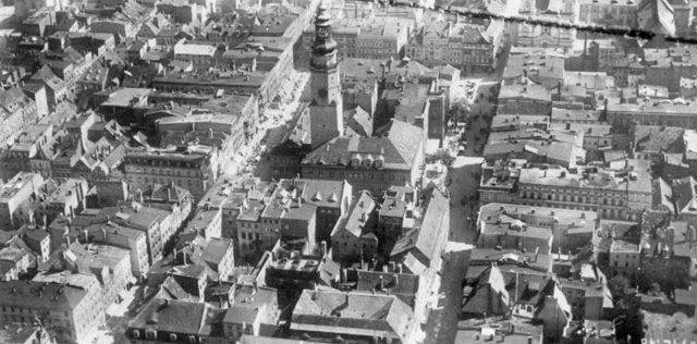 Аэрофотоснимок центра города.