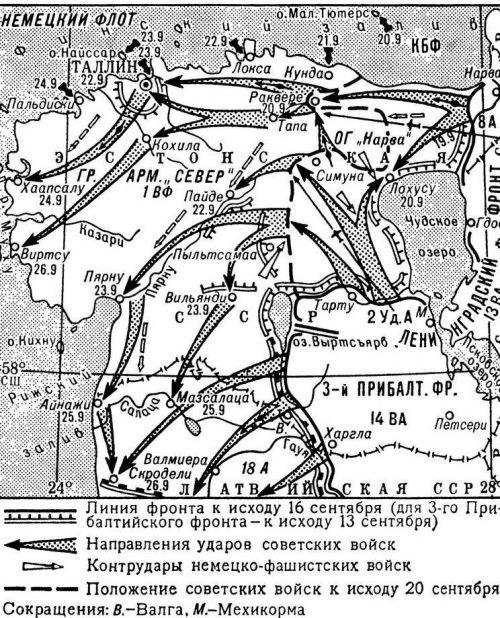Карта-схема Таллинской операции.