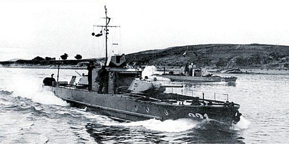Катера Дунайской флотилии.