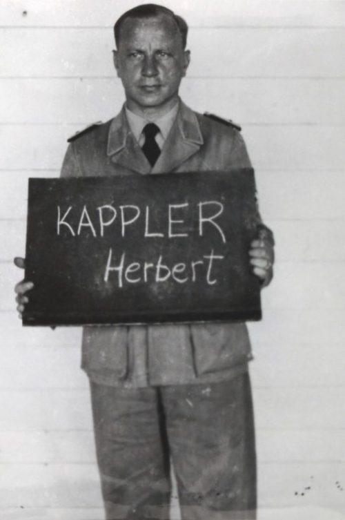 Бывший оберштурмбанфюрер СС Герберт Капплер. 1946 г.