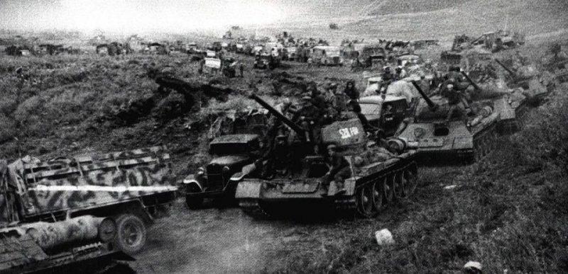 Советские войска в Карпатах.