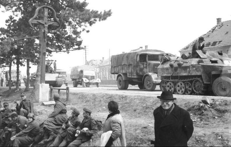 Отступление немцев в Венгрии.