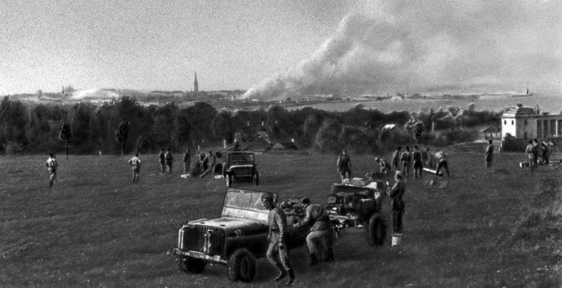 Советские артиллеристы у Таллина.