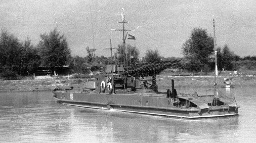 Бронекатера Дунайской военной флотилии.