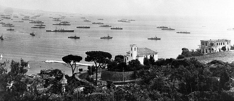 Флот вторжения на Лазурном Берегу.
