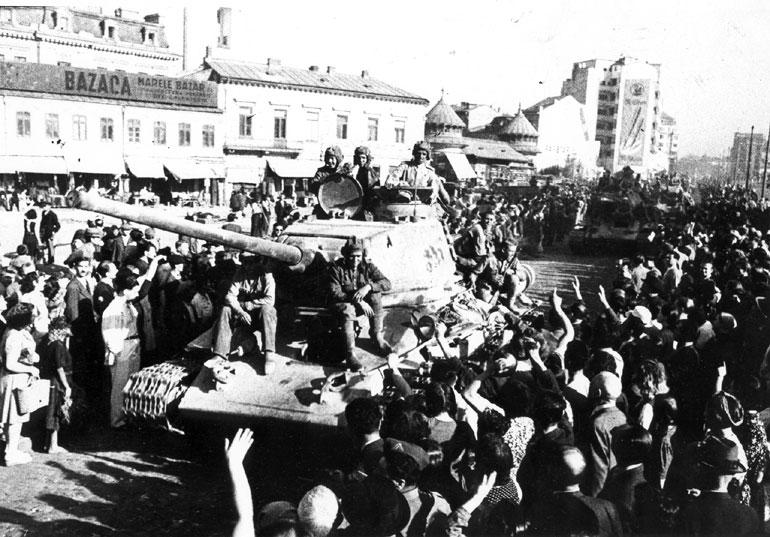 Красная Армия в Бухаресте.