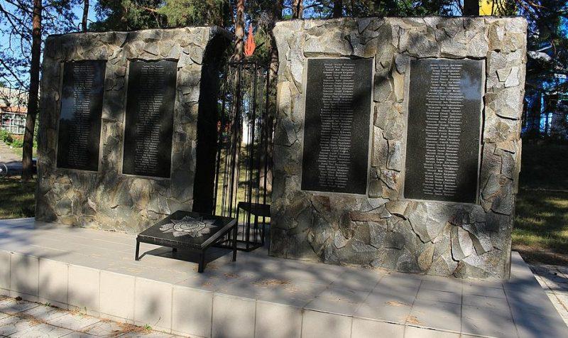 с. Жаботин Каменского р-на. Памятник воинам-односельчанам, погибшим в годы войны.