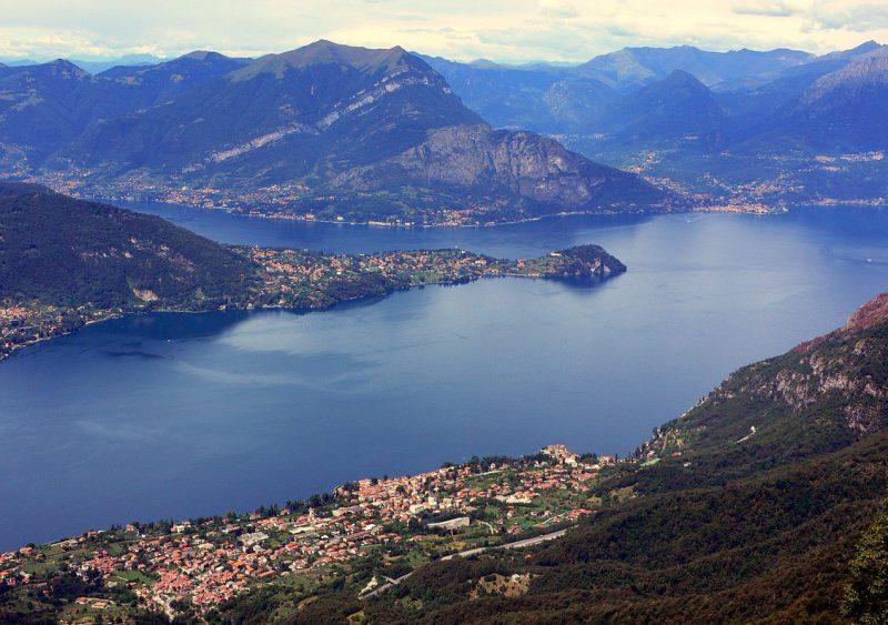 Озеро Комо - длина - 47 км, ширина - до 4 км, максимальная глубина - 410 м.