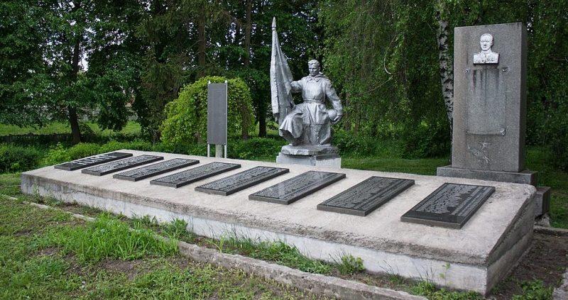 с. Дзензелевка Маньковского р-на. Мемориал, установленный на братской могиле советских воинов.