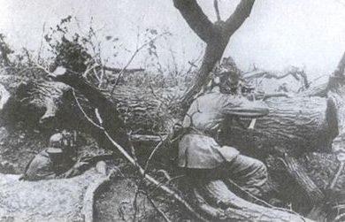 Оборонительные немецкие позиции. Октябрь 1944 г.