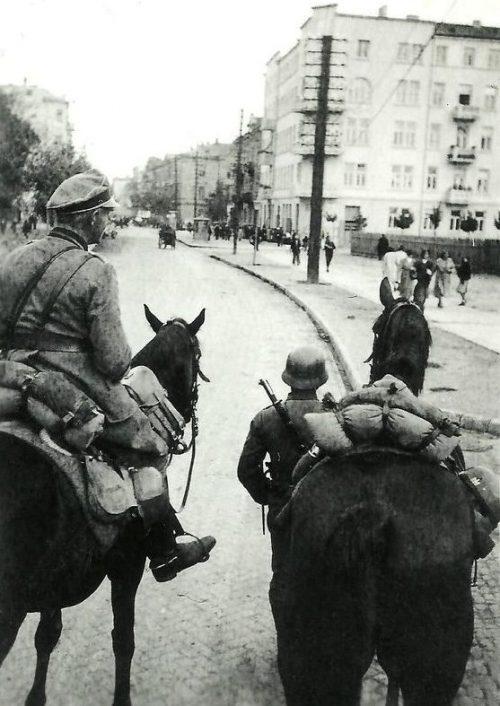 Немецкие войска в Люблине. Сентябрь 1939 г.