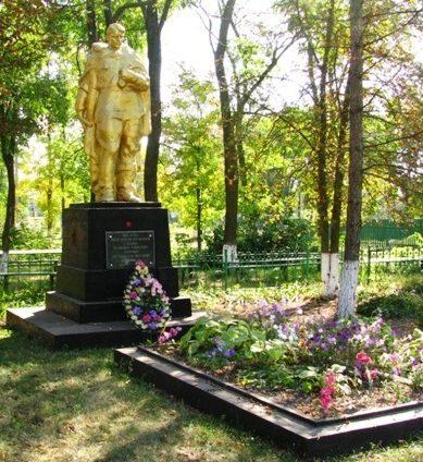 с. Лебедевка Каменского р-на. Памятник, установленный на братской могиле воинов, погибших в боях за село.
