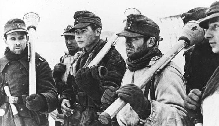 Немецкие войска в «котле». Ноябрь 1944 г.