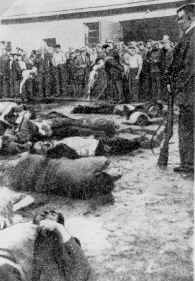 Избиение 68 евреев в гараже «Летукис» в Каунасе. 25-27 июня 1941 г.