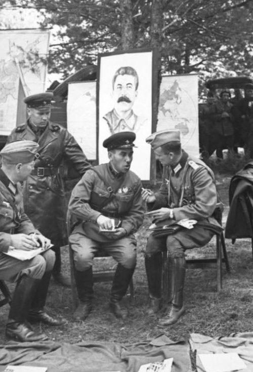 Участники церемонии передачи Бреста. 22 сентября 1939 года.